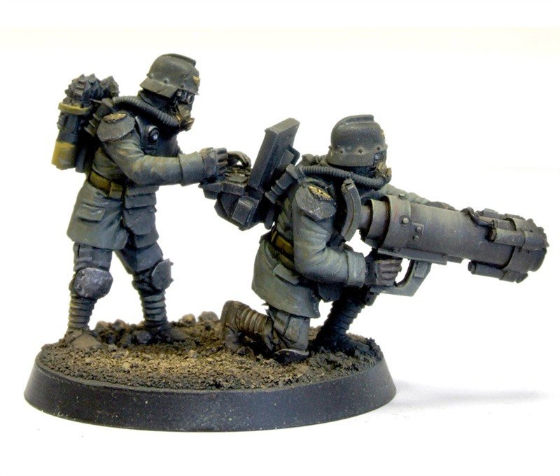DKK Engineers with Mole Launcher Forgeworld Model A with Mole Launcher