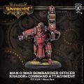 Man-O-War Bombardier Officer Command Attachment (resin/metal)