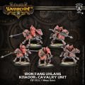 Khador: Iron Fang Uhlans Cavalry Unit BOX (5) (resin & white metal)